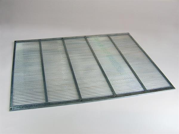 Rundstababsperrgitter Metall - ohne Wechselrahmen