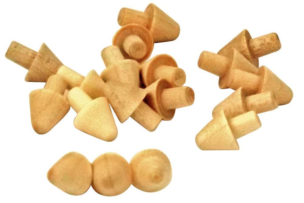 Pilzköpfe 7mm Hartholz für alle mod. Rähmchen