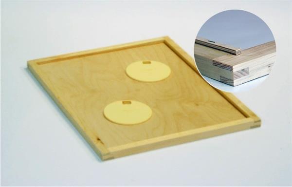 Wechselrahmen mit Einlegeplatte für Bienenfluchten und RS